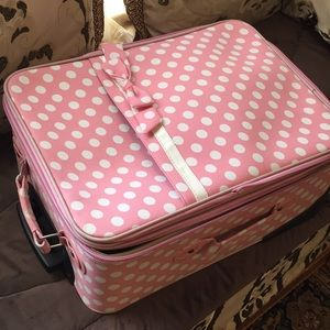 Cute pink carry on travel suitcase